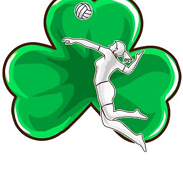 Volleyball Girl Irish Shamrock St. Patrick's by frittata