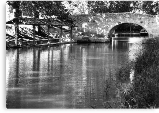 Canal washouse and17c  bridge  by Paul Pasco