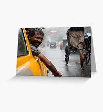 Monsoon. Calcutta Greeting Card
