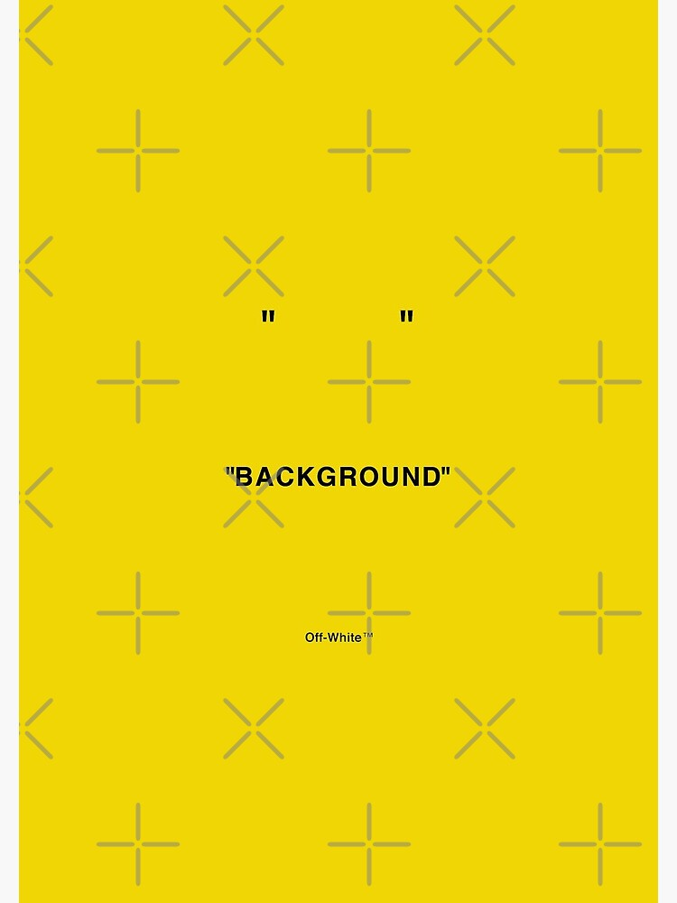 Off White Quotations Yellow Color Background Spiral Notebook