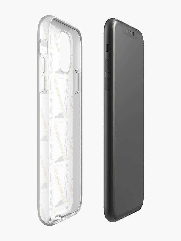Coque iPhone «ÉTUIS POUR TÉLÉPHONES INCONFÉRENTIELS À STYLE BLANC ET AUTRES ARTICLES YELLO», par kiamargot