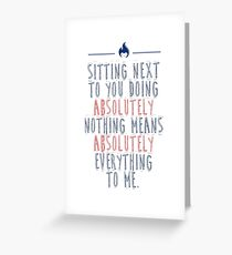 I Absolutely Love You Greeting Card