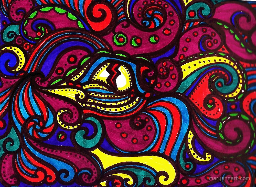 Psychedelic Eye by maryannart-com