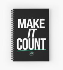MAKE IT COUNT (White) Spiral Notebook