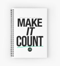 Make It Count (Black) Spiral Notebook