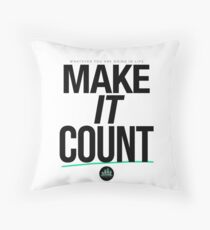 Make It Count (Black) Throw Pillow