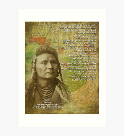 Chef Joseph von Nez Perce Kunstdruck