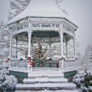 Gazebo in the Snow by FrankieCat