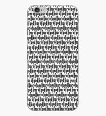 Fear Of God Print iPhone Case