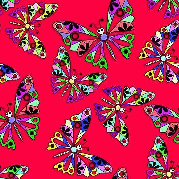 Butterflies, scarlet by fuzzyfox