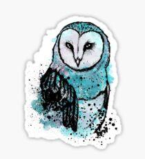 Owl Tee Coloured Sticker