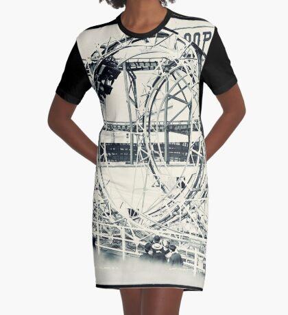 Vintage Coney Island Loop the Loop Graphic T-Shirt Dress