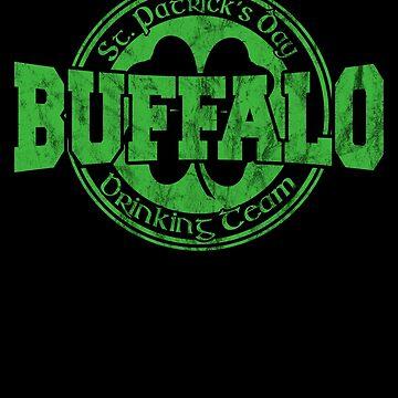 Funny St. Patrick's Day Buffalo Drinking Team TShirt by fermo