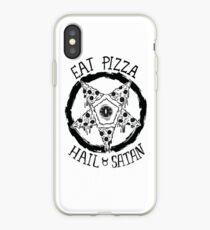 Eat Pizza Hail Satan iPhone Case