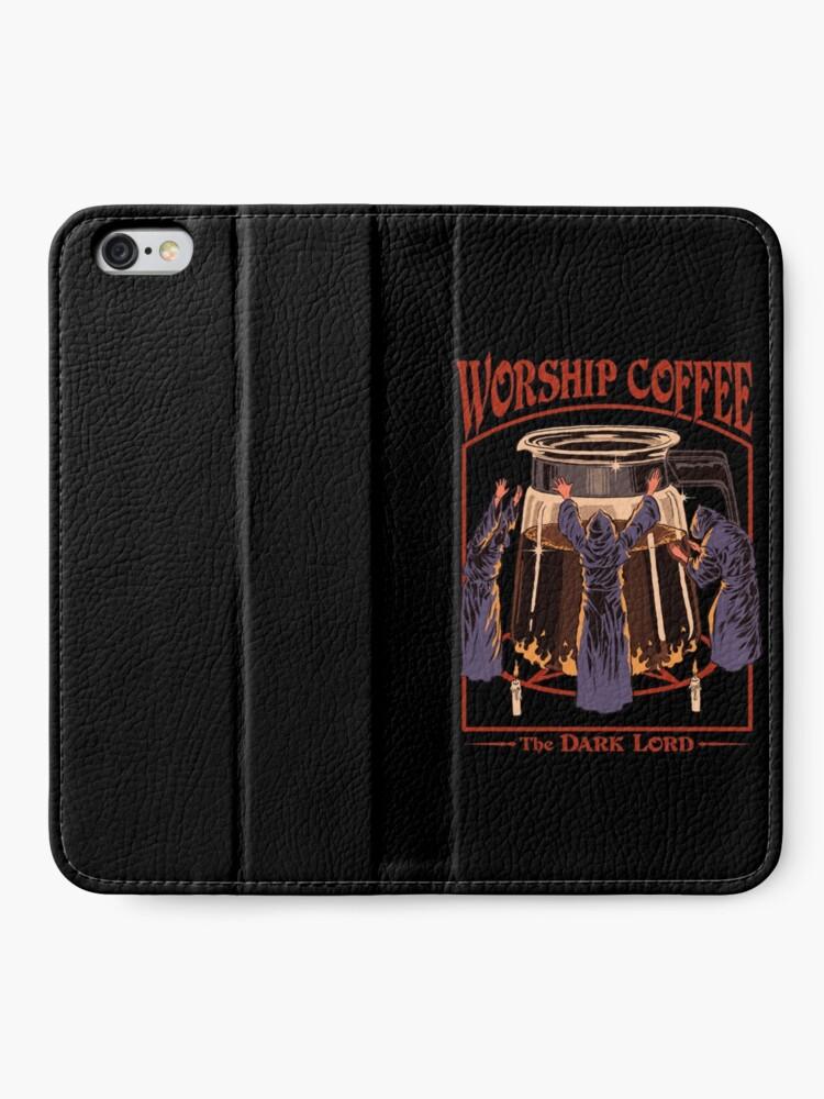 Alternate view of Worship Coffee iPhone Wallet