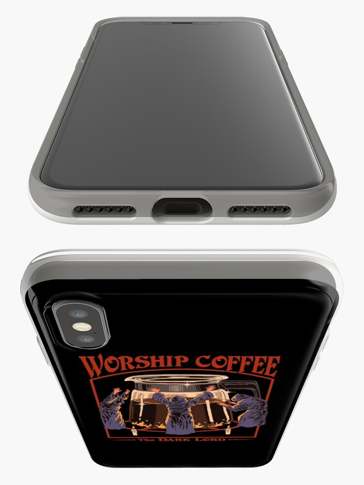 Alternate view of Worship Coffee iPhone Cases & Covers