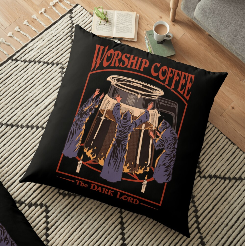 Worship Coffee Floor Pillow