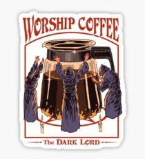 Pegatina Café de adoración
