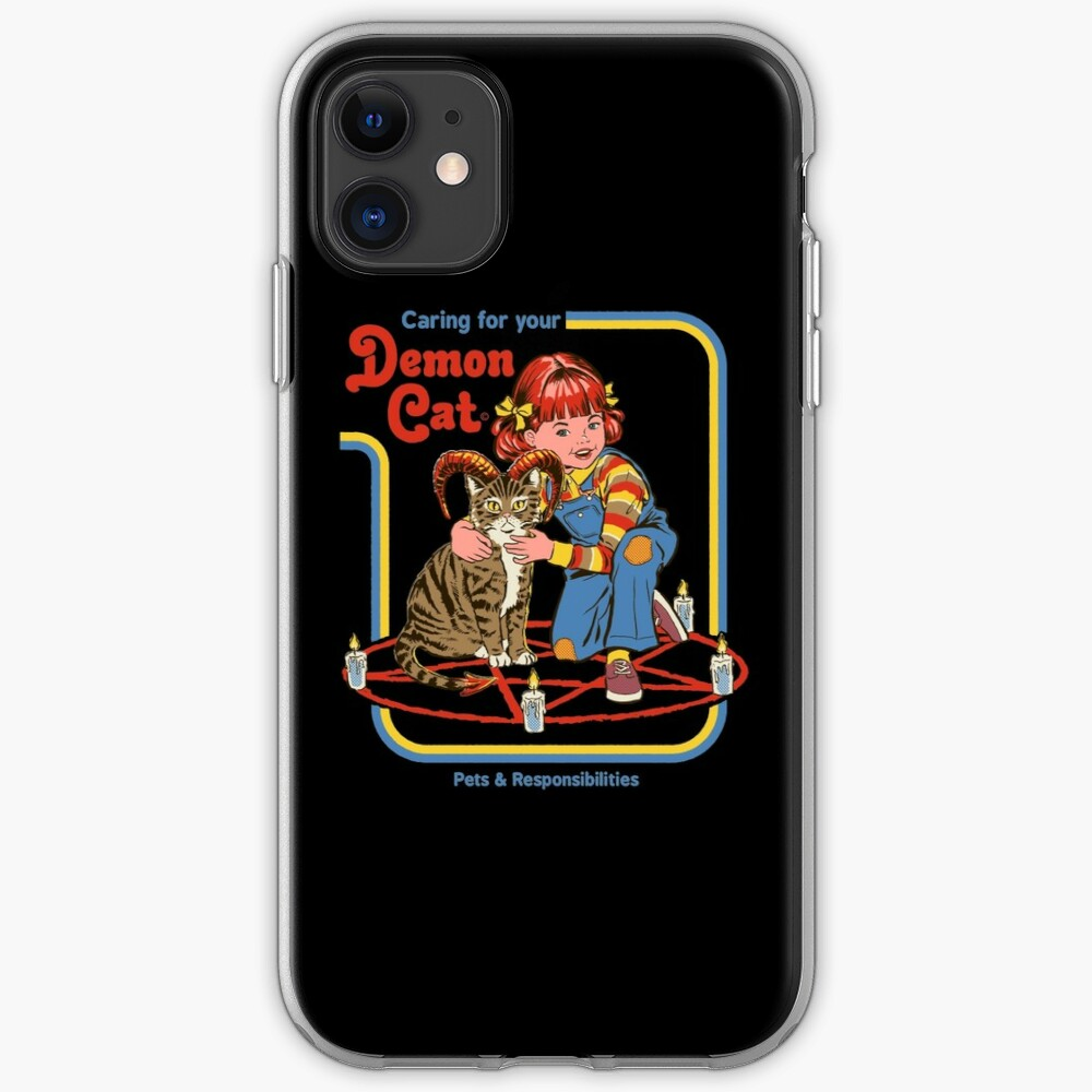Caring For Your Demon Cat iPhone Case & Cover