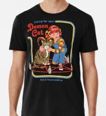 Sorge für deine Dämonenkatze Männer Premium T-Shirts