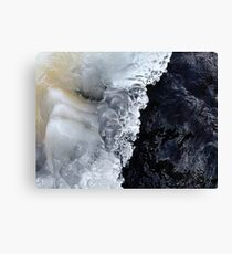 8.2.2017: Natural Ice and Wet Stone Canvas Print