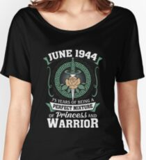 June 1944 Perfect Mixture Of Princess And Warrior Relaxed Fit T-Shirt