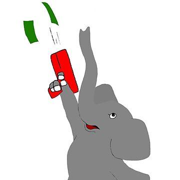 Make It Rain Elephant by thesamba
