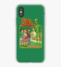Don't Talk To Strangers iPhone Case