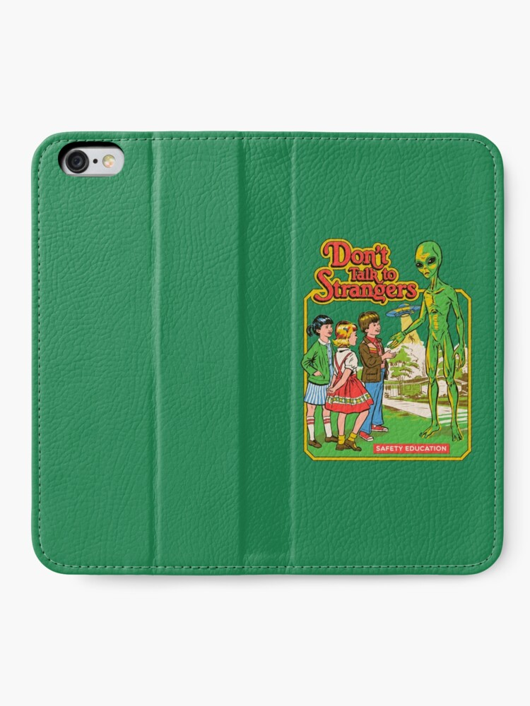Alternate view of Don't Talk To Strangers iPhone Wallet