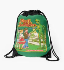 Don't Talk To Strangers Drawstring Bag