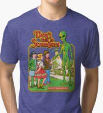 Camiseta de tejido mixto No hables con extraños