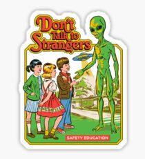 Sprich nicht mit Fremden Sticker