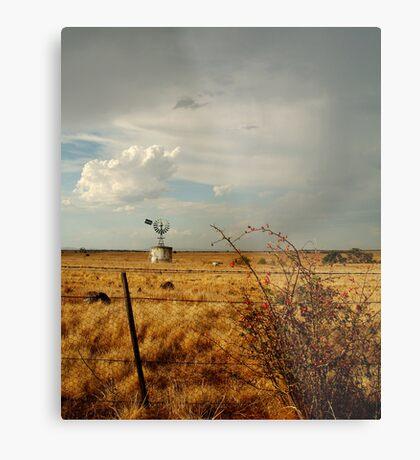 Passing Rain,Rural Geelong Metal Print