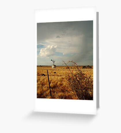 Passing Rain,Rural Geelong Greeting Card