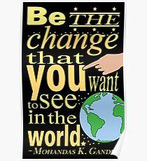 Typography - Gandhi Quote Poster