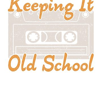 Retro Cassette Keeping it Old School Music Lover by KanigMarketplac