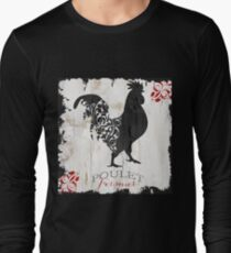 Ferme Rooster Poulet Damask Long Sleeve T-Shirt