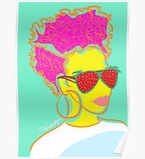 Fresh Fruit- Strawberry Lady Pop Art Poster