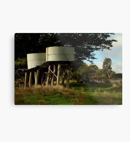 Water Tanks, Macendon Ranges Metal Print