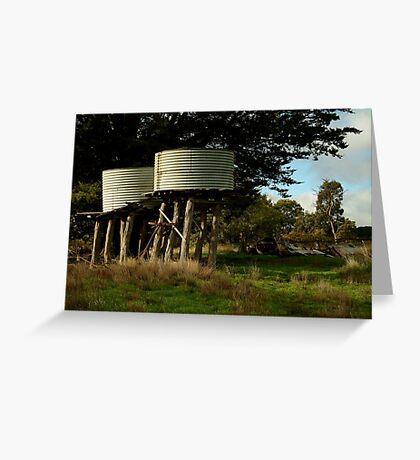 Water Tanks, Macendon Ranges Greeting Card
