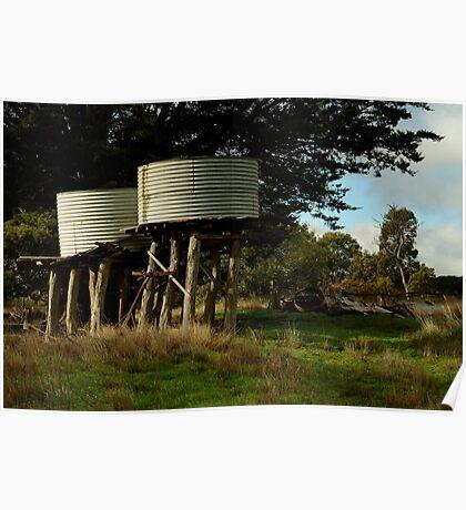 Water Tanks, Macendon Ranges Poster