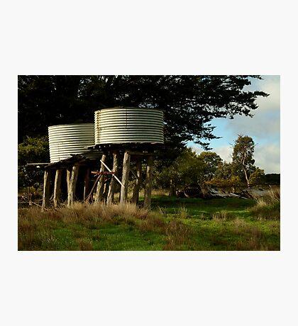 Water Tanks, Macendon Ranges Photographic Print