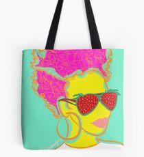 Fresh Fruit- Strawberry Lady Pop Art Tote Bag