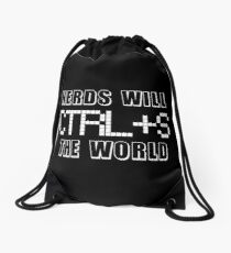 Nerds Will Save The World Drawstring Bag