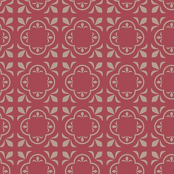 Rose Colored Geometric Pattern  by deecdee