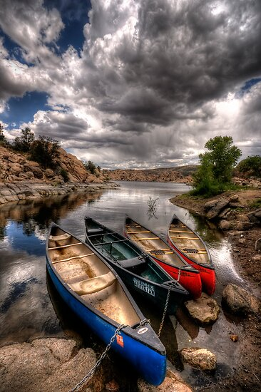Canoe Break 3 by Bob Larson