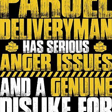 Parcel Deliveryman Postman Mailman Gift Present by Krautshirts