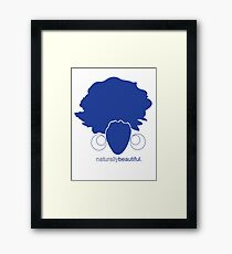 Blue Naturally Beautiful Framed Print