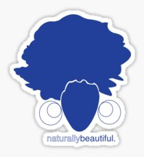 Blue Naturally Beautiful Sticker