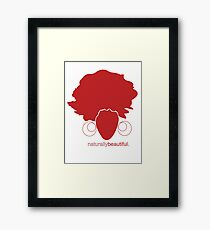 Red Naturally Beautiful Framed Print